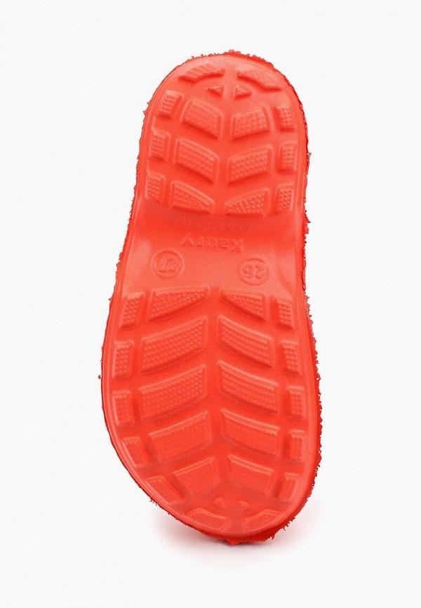 Фото 3 - Резиновые сапоги Каури оранжевого цвета