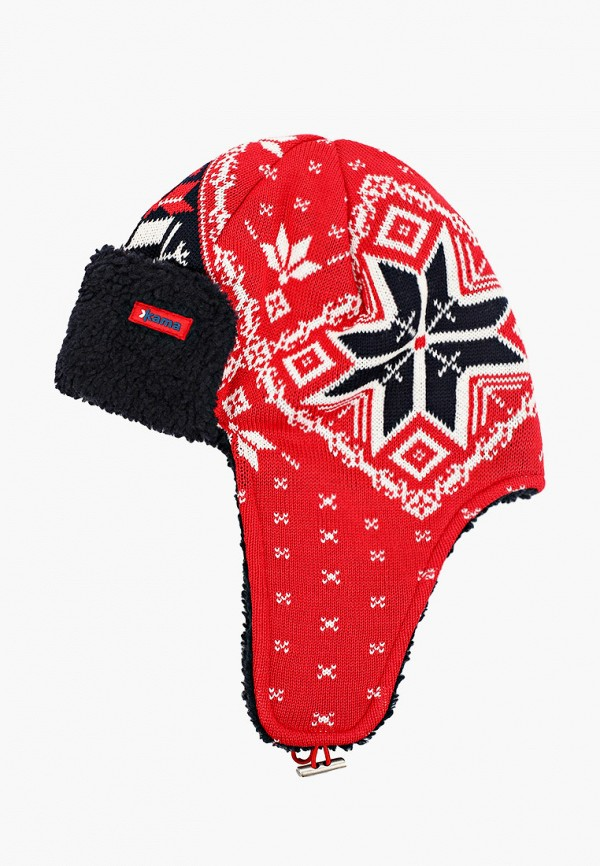 мужская шапка kama, красная