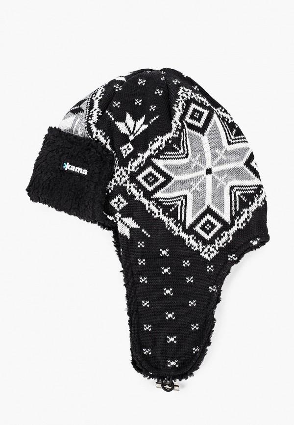 мужская шапка kama, черная