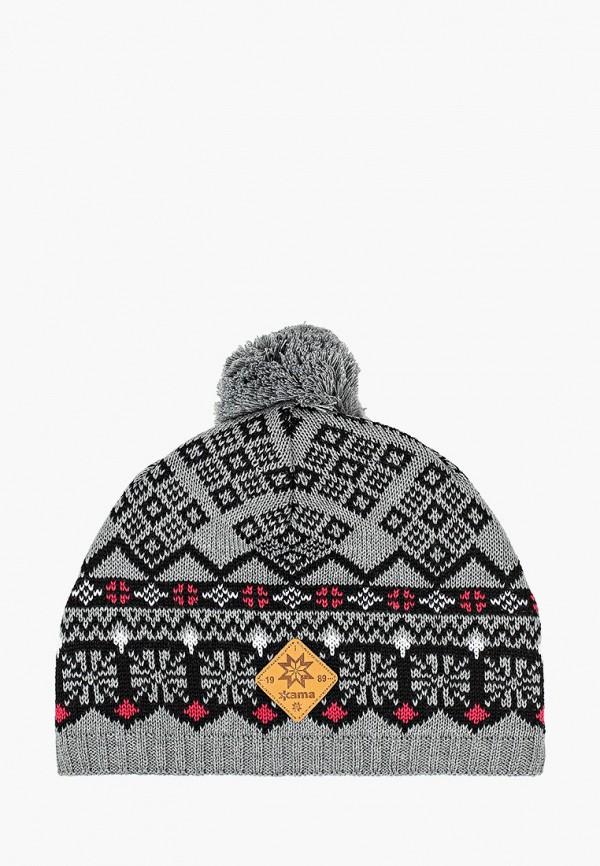 женская шапка kama, серая