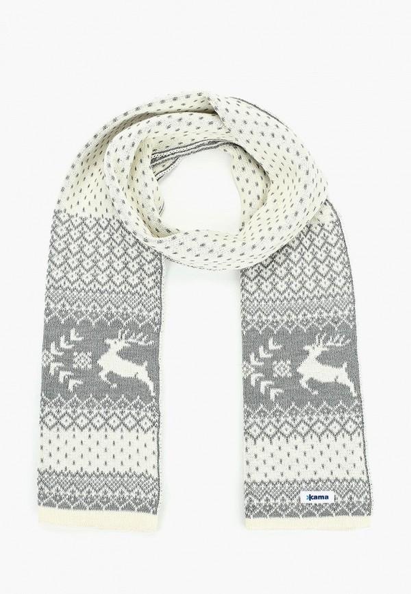 женский шарф kama, белый