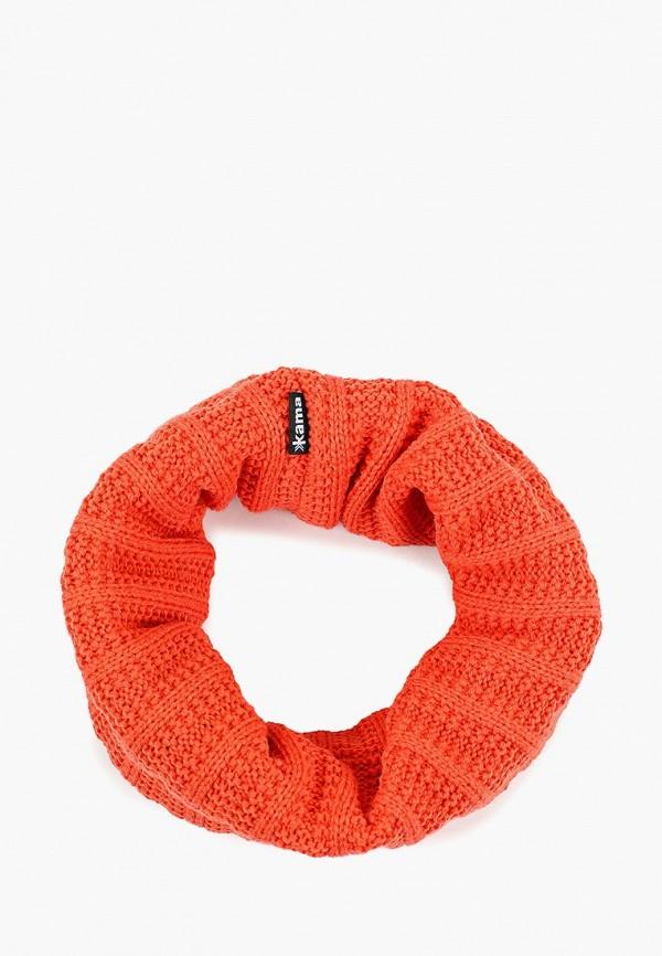 женский снуд kama, оранжевый