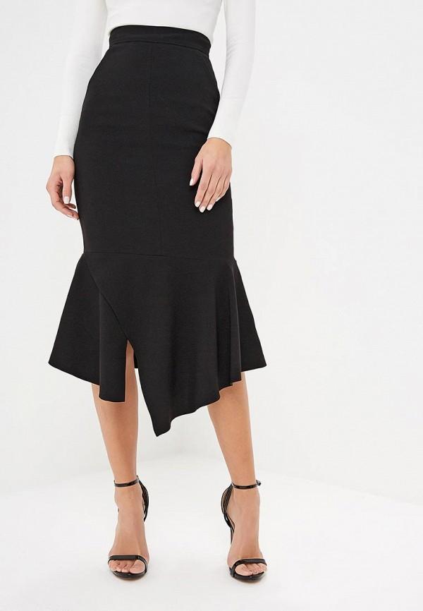 женская зауженные юбка karen millen, черная