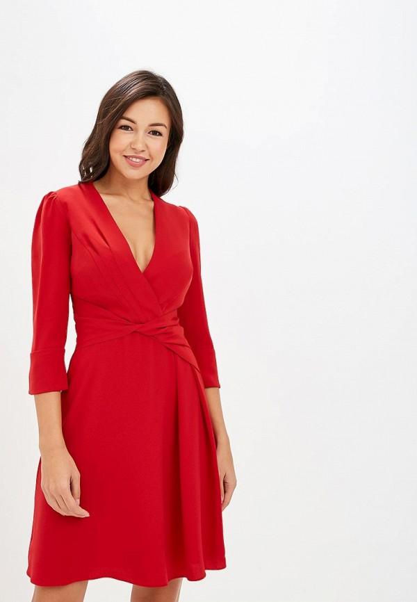 женское повседневные платье karen millen, красное