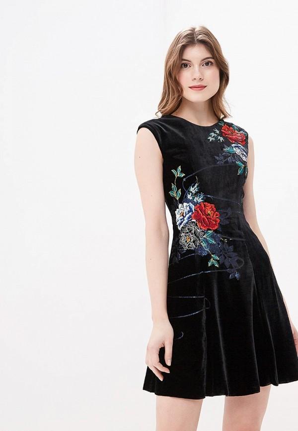 женское вечерние платье karen millen, черное