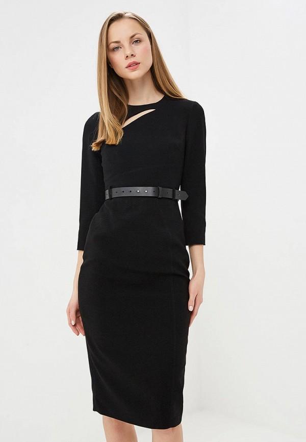 женское платье-футляр karen millen, черное