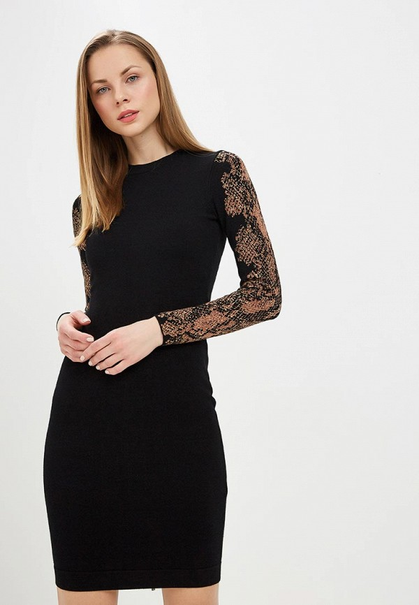 Купить Женское вязаное платье Karen Millen черного цвета