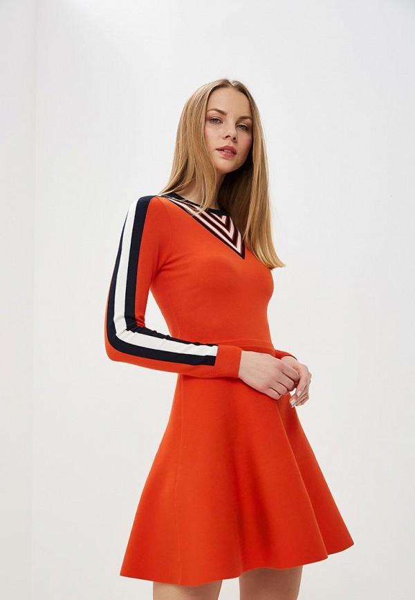 Купить Женское платье Karen Millen оранжевого цвета