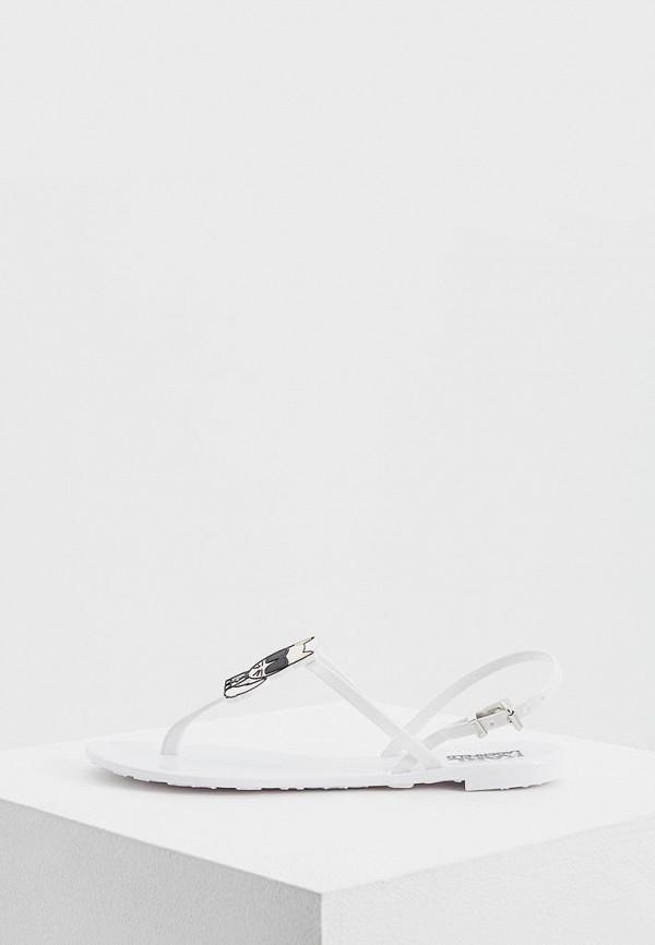 женские сандалии karl lagerfeld, белые