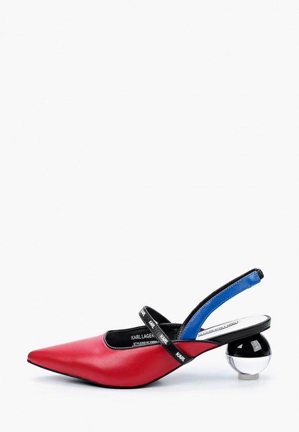 женские туфли karl lagerfeld, красные