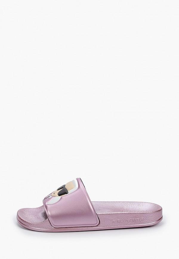 женские сланцы karl lagerfeld, розовые