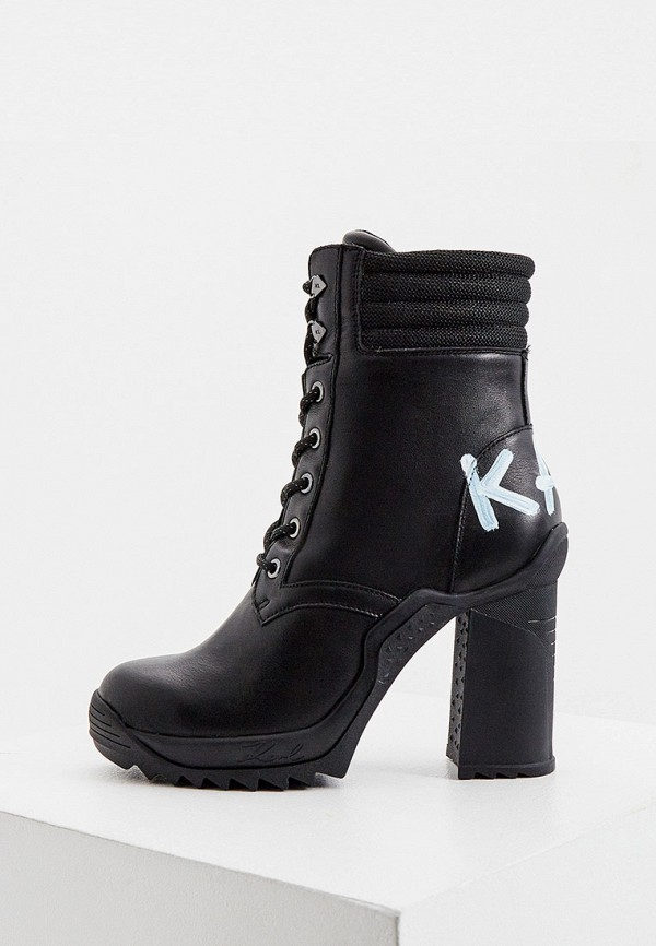 женские ботильоны karl lagerfeld, черные