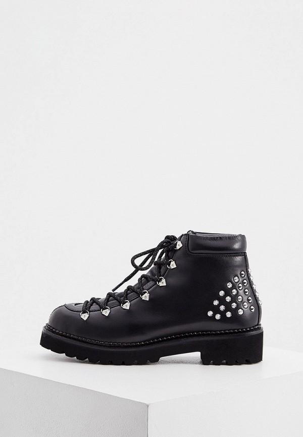 женские высокие ботинки karl lagerfeld, черные