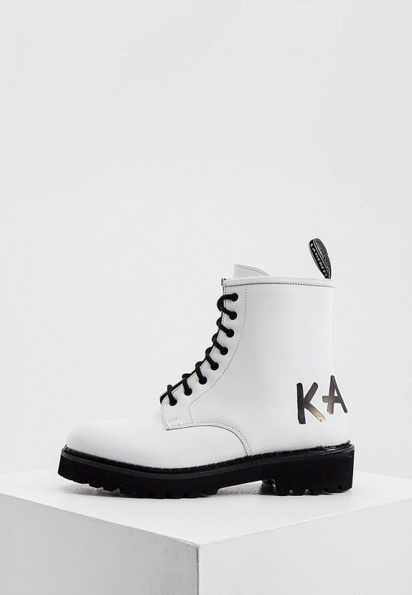 женские ботинки karl lagerfeld, белые