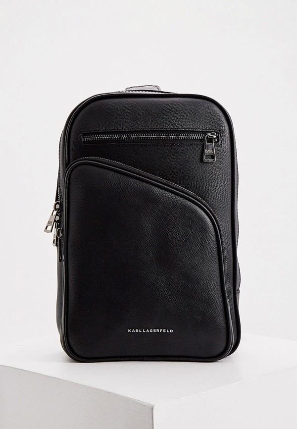 мужской рюкзак karl lagerfeld, черный
