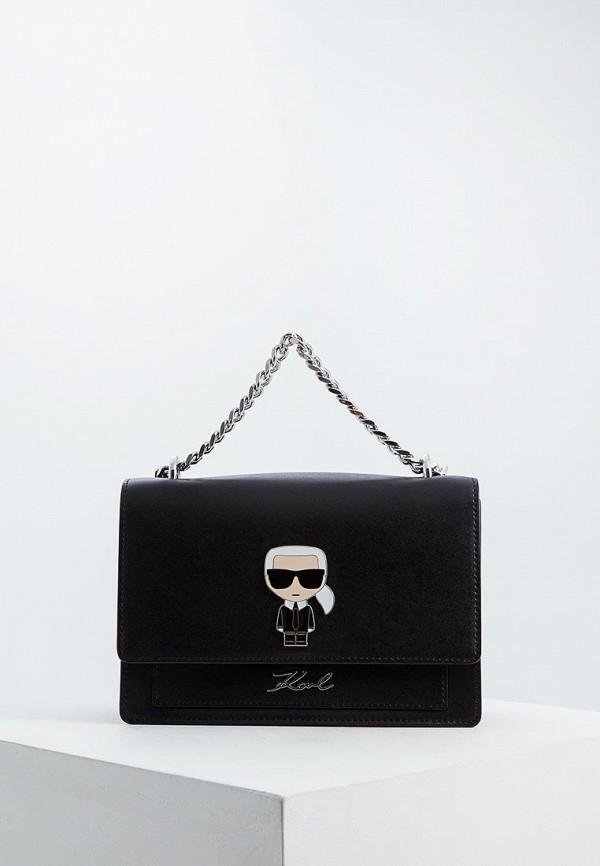 женская сумка karl lagerfeld, черная