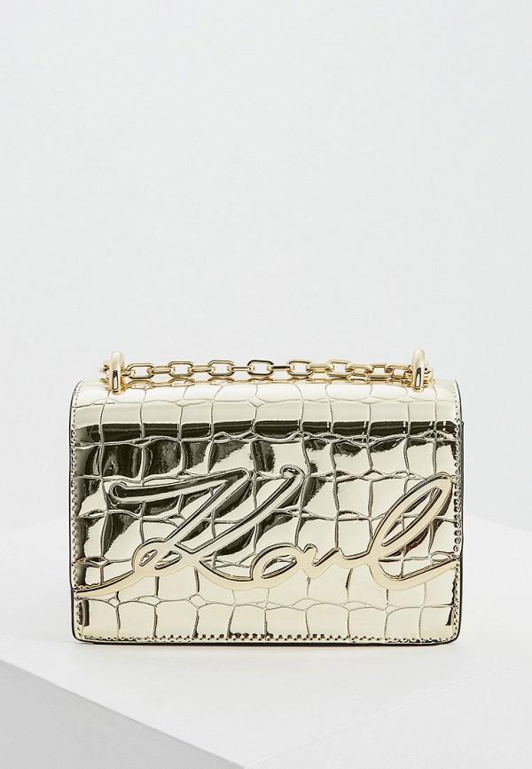 женская сумка karl lagerfeld, золотая