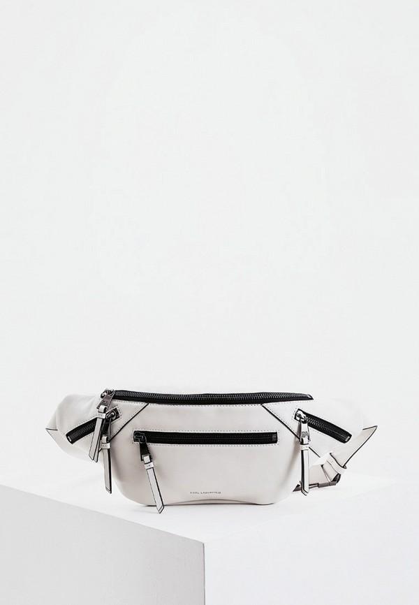 женская сумка karl lagerfeld, бежевая
