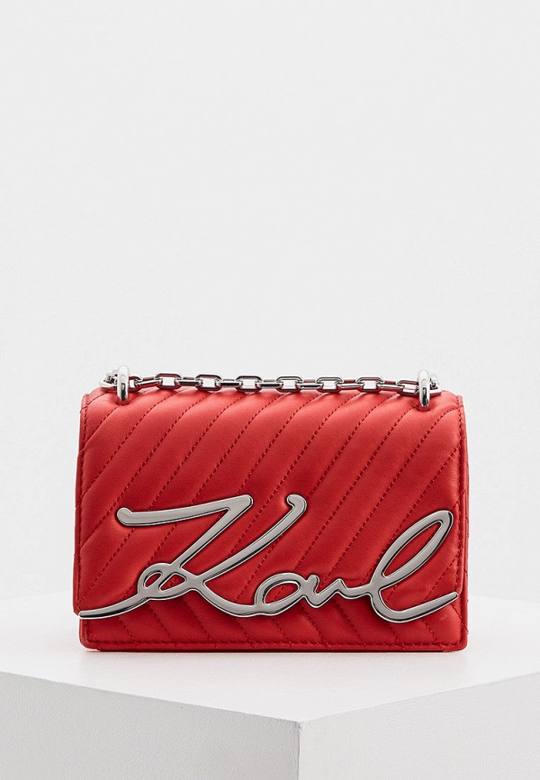 женская сумка karl lagerfeld, красная