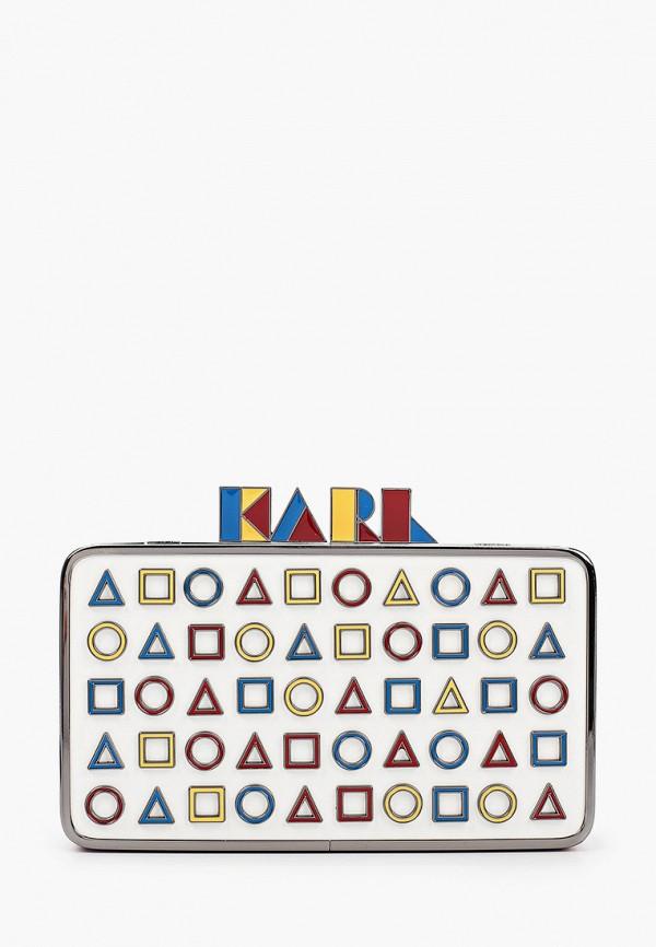 женский клатч karl lagerfeld, разноцветный