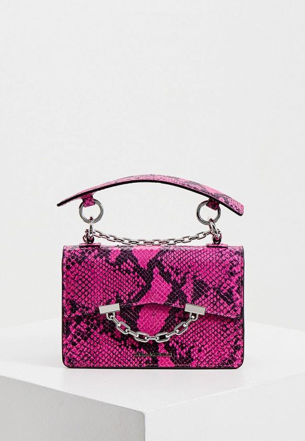 женская сумка karl lagerfeld, розовая