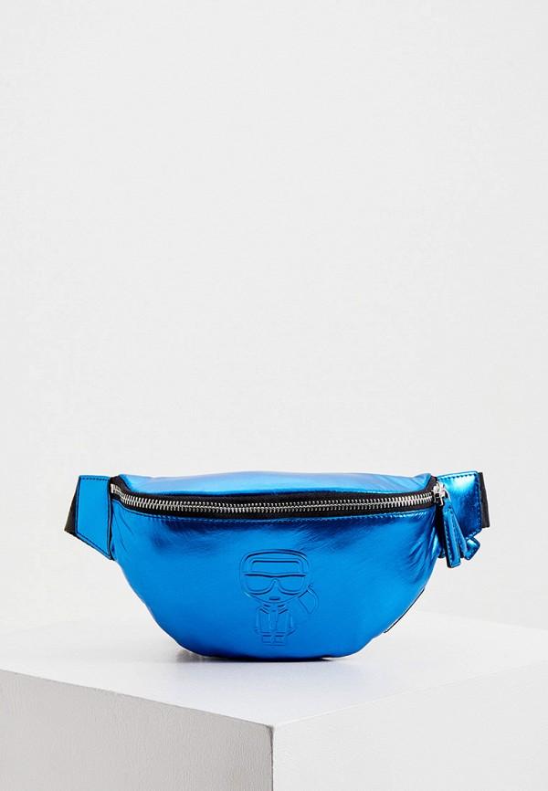 женская сумка karl lagerfeld, синяя