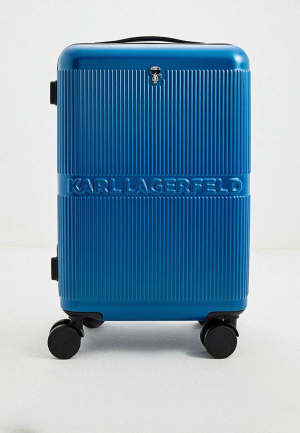 женский чемодан karl lagerfeld, синий