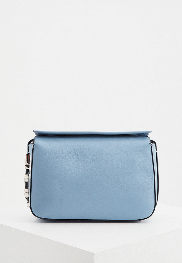 женская сумка через плечо karl lagerfeld, голубая