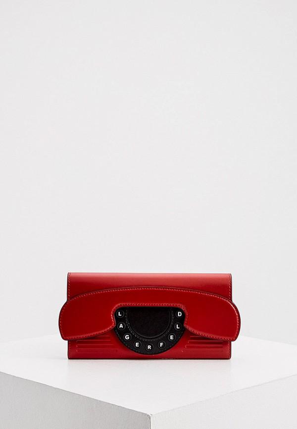 женский кошелёк karl lagerfeld, красный