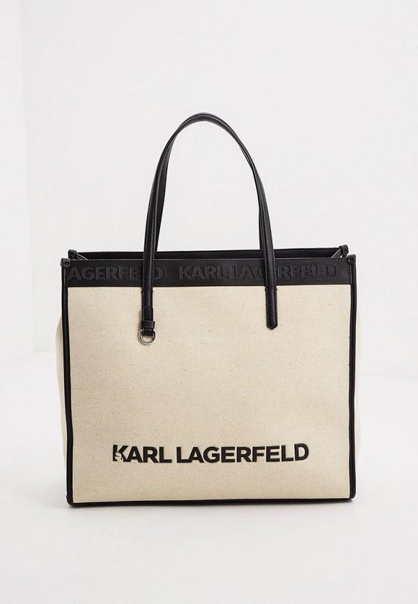 женская сумка-шоперы karl lagerfeld, разноцветная