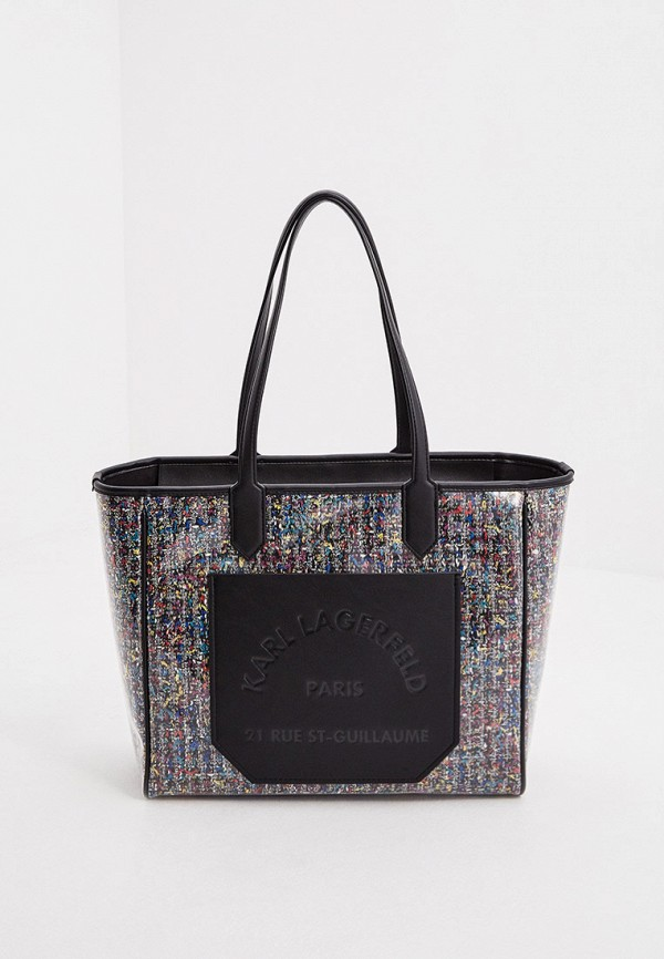 женская сумка с ручками karl lagerfeld, разноцветная
