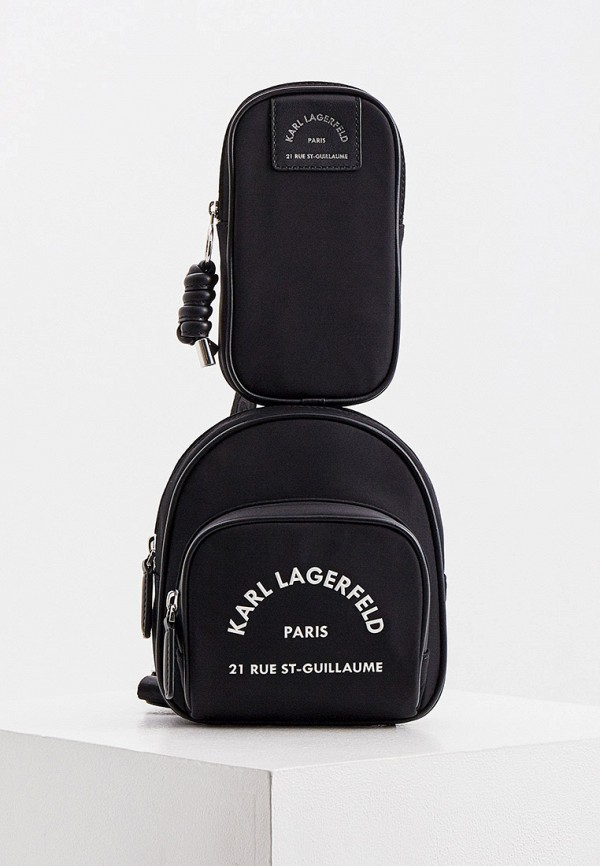 женская поясные сумка karl lagerfeld, черная
