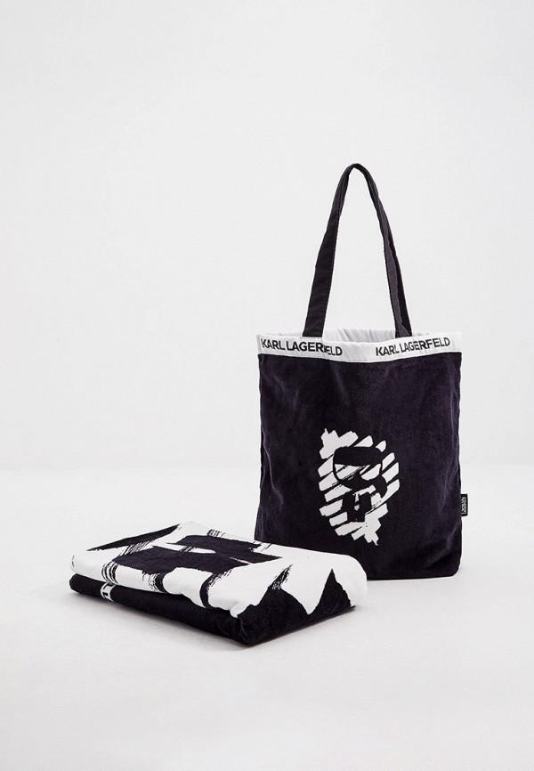 женская пляжные сумка karl lagerfeld, синяя