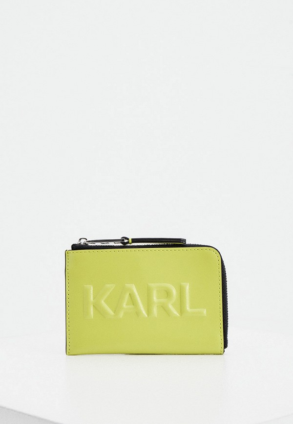 женский кошелёк karl lagerfeld, зеленый
