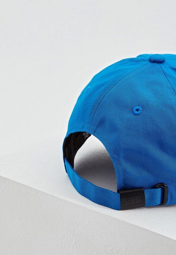 Фото 4 - мужскую бейсболку Karl Lagerfeld синего цвета