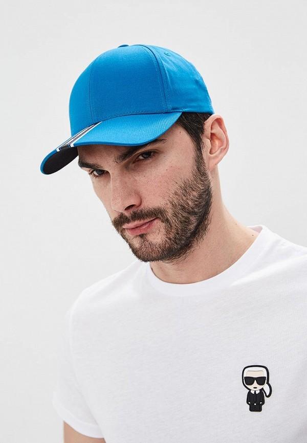 Фото 5 - мужскую бейсболку Karl Lagerfeld синего цвета