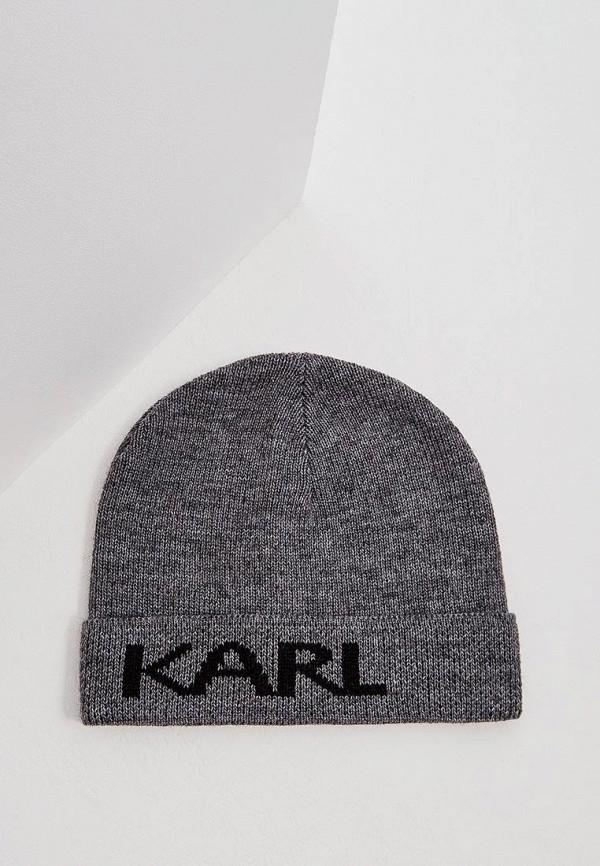 мужская шапка karl lagerfeld, серая