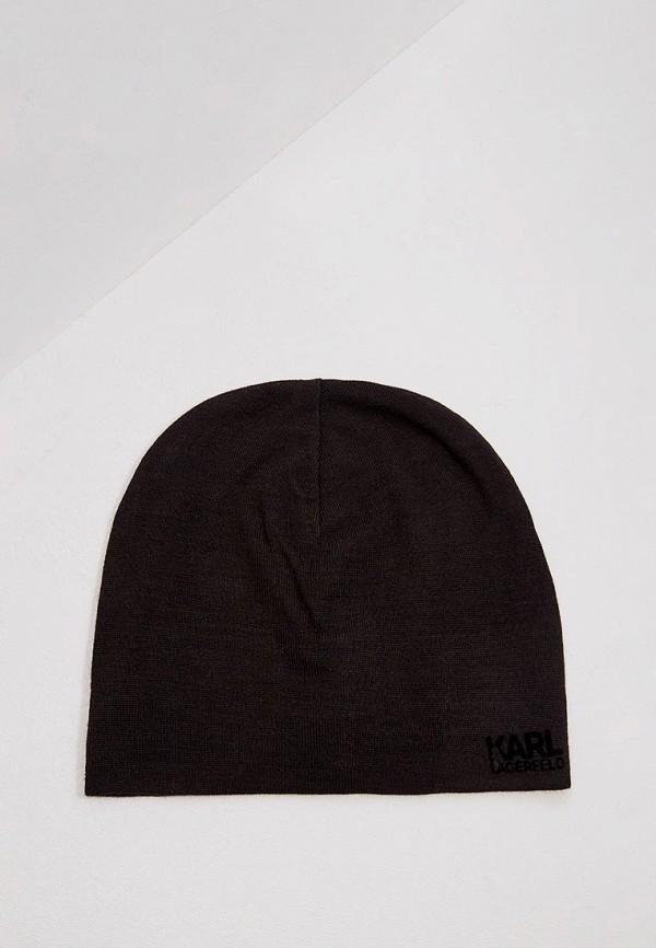мужская шапка karl lagerfeld, черная