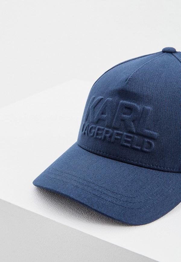 Фото 3 - мужскую бейсболку Karl Lagerfeld синего цвета