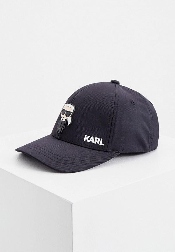 мужская бейсболка karl lagerfeld, черная
