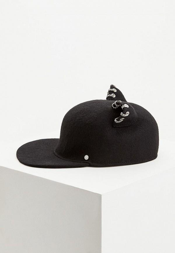 женская кепка karl lagerfeld, черная