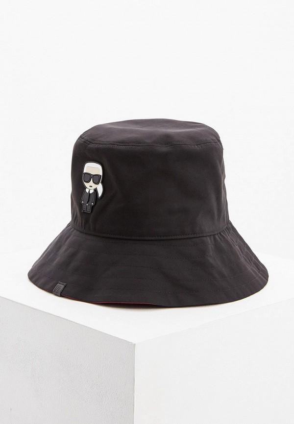 женская панама karl lagerfeld, черная