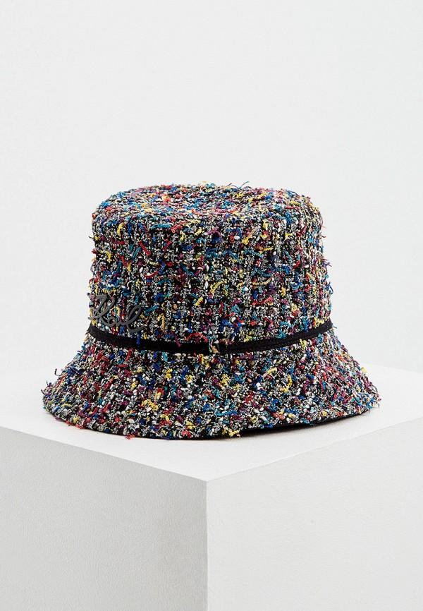 женская панама karl lagerfeld, разноцветная