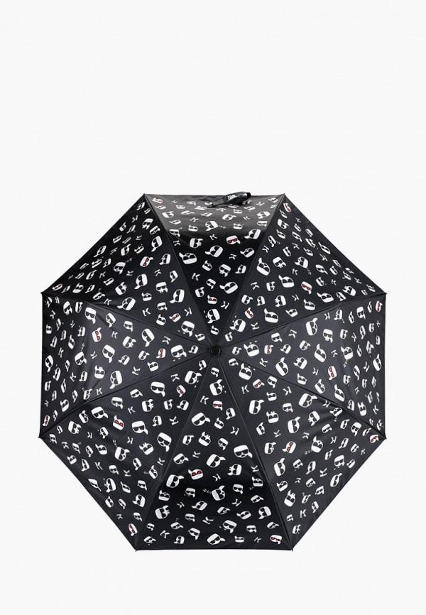 Фото - Зонт складной Karl Lagerfeld черного цвета