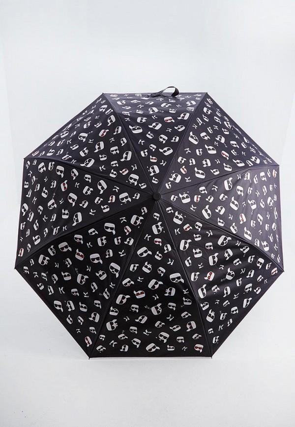 женский зонт karl lagerfeld, черный