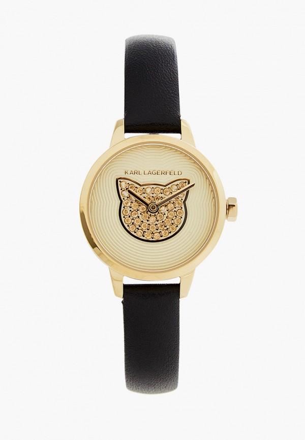 женские часы karl lagerfeld, черные