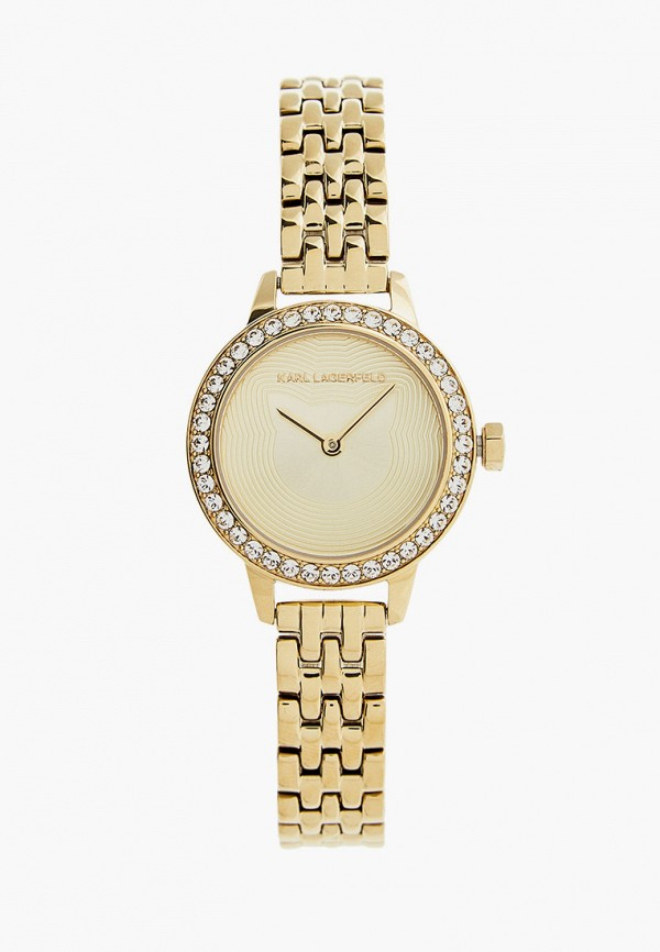 женские часы karl lagerfeld, золотые