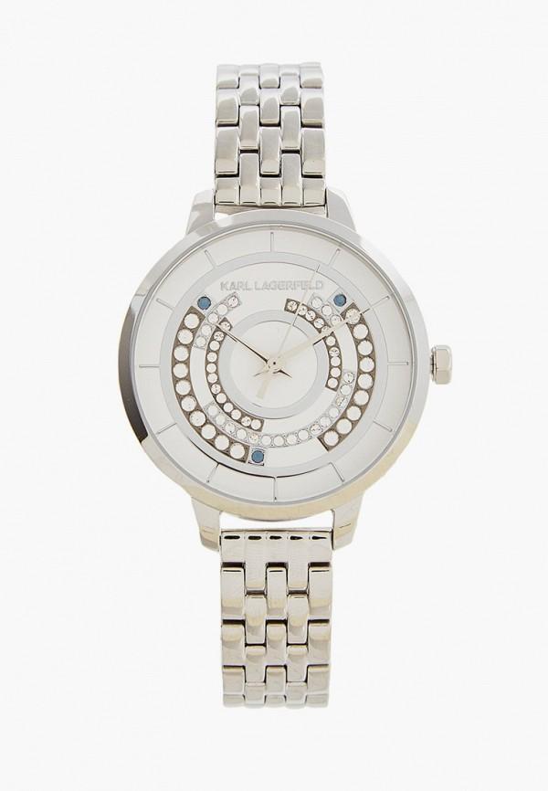 женские часы karl lagerfeld, серебряные