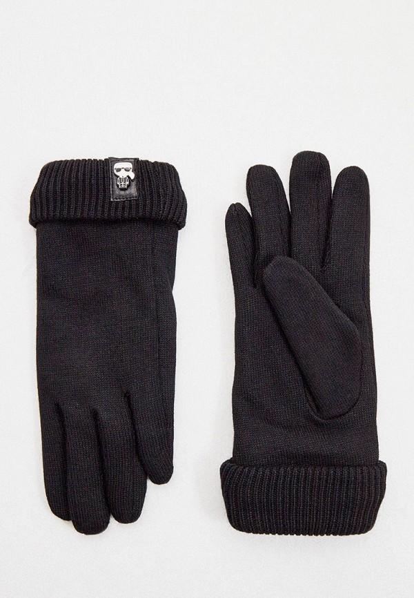 женские перчатки karl lagerfeld, черные