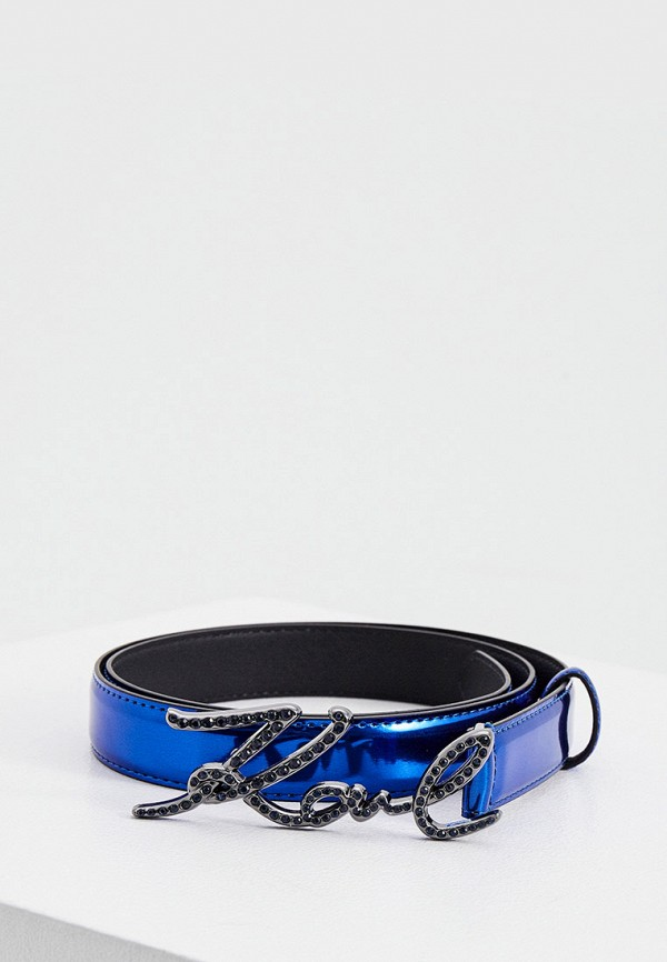 женский ремень karl lagerfeld, синий